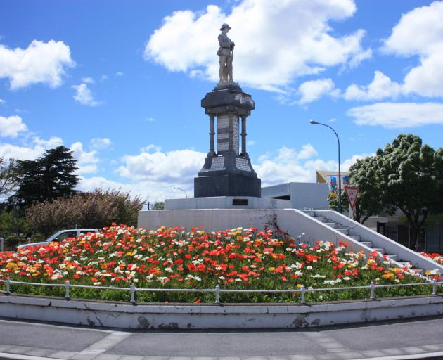 The Alexandra war memorial is just one of Central Otago's memorials which contains errors. Photo: ODT files