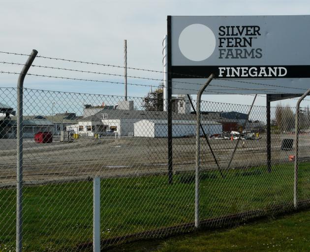 Silver Fern Farms' Finegand plant. PHOTO: RICHARD DAVISON