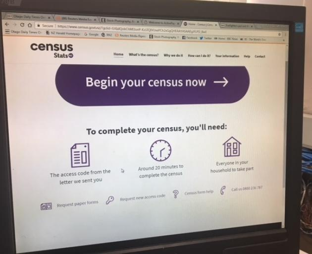 Stats NZ wanted 70% of all Census forms filled in online, but anyone can ask for a paper form...