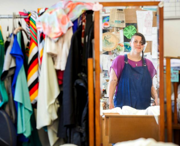 Fiona Clements, one of the Stitch Kitchen founders, who is involved in the clothing upcycling...