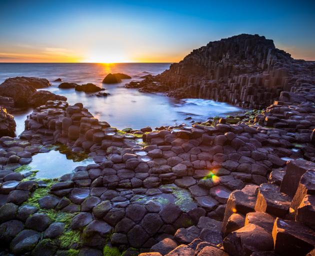 The Unesco-listed Giant's Causeway, thousands of interlocking basalt columns.