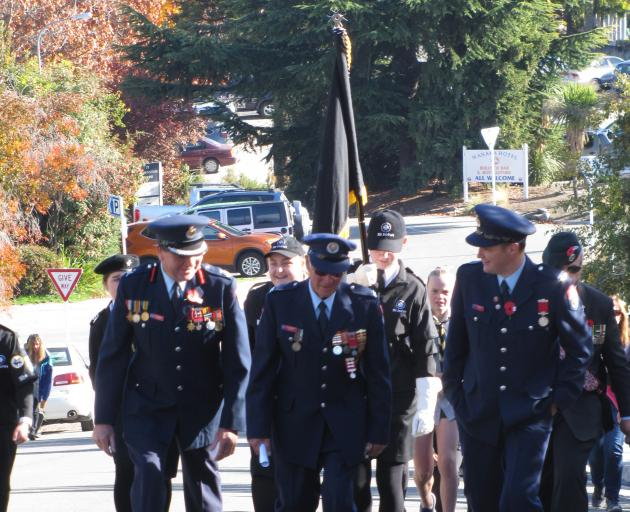 Wanaka's Anzac events were without a parade this year. PHOTO: MARK PRICE