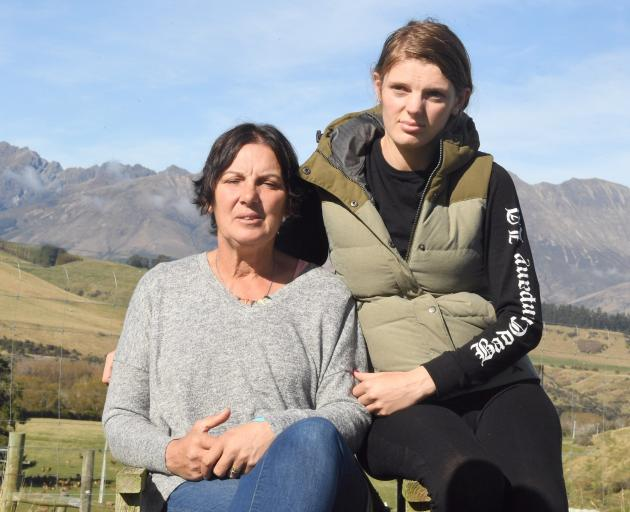 Sandra and Rebecca Stevens spent a long Monday night waiting for news of their husband and father after the helicopter he was on went down in the Southern Ocean. Photo: Stephen Jaquiery