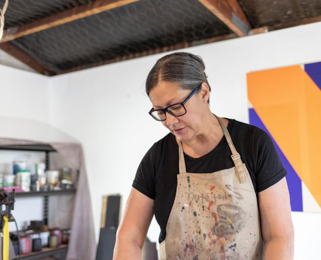 Leanne Morrison works on a large scale like this one, Transit. Photo: Supplied