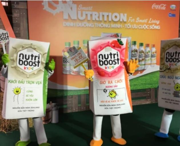 Coca Cola's Nutriboost beverage, which it makes with Fonterra, was rolled out in Vietnam last...