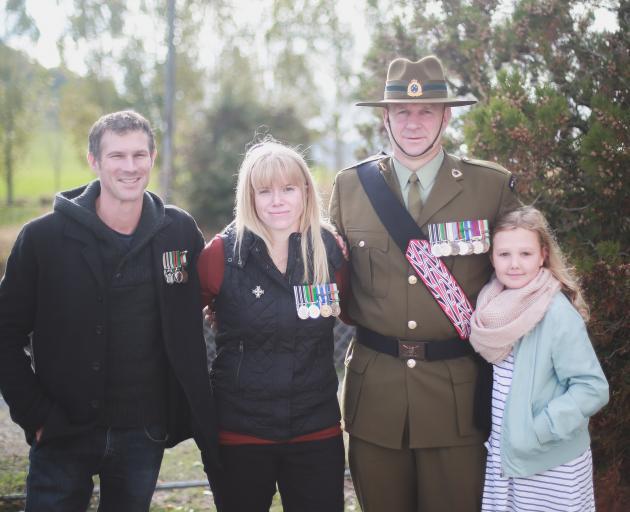 Former New Zealand Army chefs (from left) Sam Pickford, of Waitati, Kate Johnston, of Melbourne,...