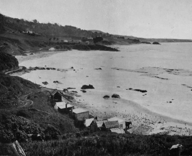A view from the fishing station, at the Nuggets, near Port Molyneux. - Otago Witness, 9.4.1919.