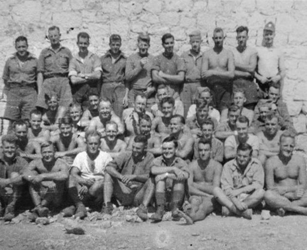 Allied prisoners of war at Aquafredda work camp. Photo: Alexander Turnbull Library