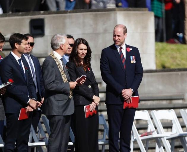 Prince William (right) with Prime Minister Jacinda Ardern and Auckland Mayor Phil Goff. Photo: NZME