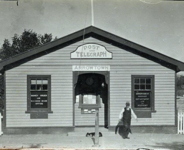 The Arrowtown Post Office in 1924. PHOTO: LAKES DISTRICT MUSEUM