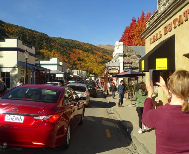 Arrowtown's annual autumn festival was proving popular with visitors yesterday. Photo: Tracey Roxburgh