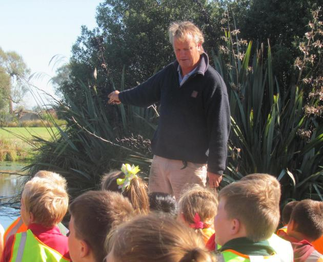 Landowner Ian Mackenzie explains about the Canterbury mudfish life cycle, habitat and predators...