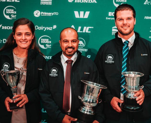 Nicola Blowey (left), Ruwan Wijayasena, and Matt Redmond are the winners in Canterbury-North...
