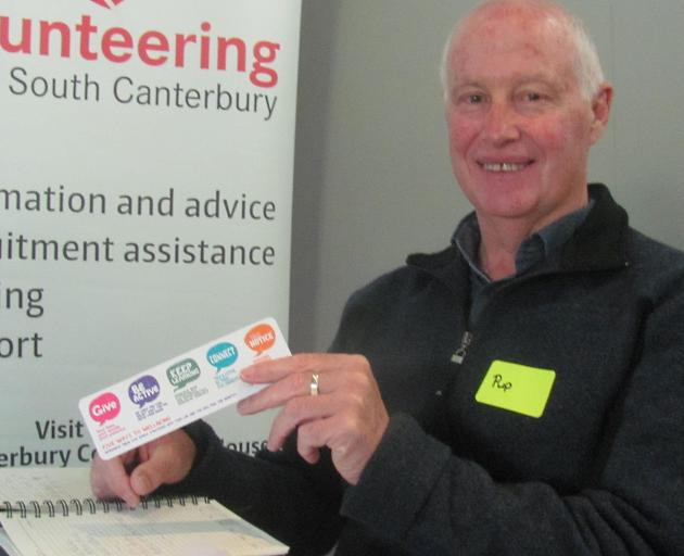 Volunteers need to put their own oxygen mask on first before they can help others says Mid Canterbury health promoter, and former policeman, Pup Chamberlain. Photos: Toni Williams