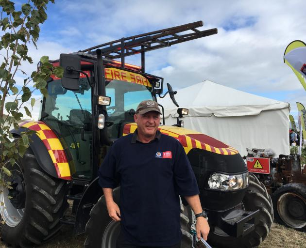 """Fire and Emergency New Zealand rural support officer Lou Ander got to drive the """"fire tractor''..."""