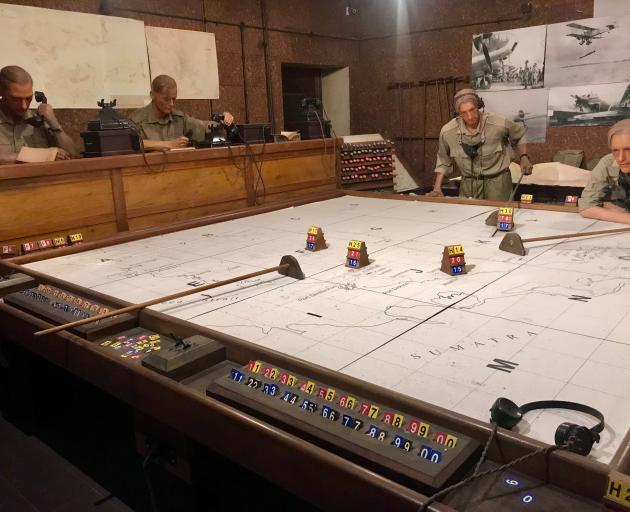 Enemy aircraft are plotted. ''H'' stands for hostile. PHOTOS: GILLIAN VINE