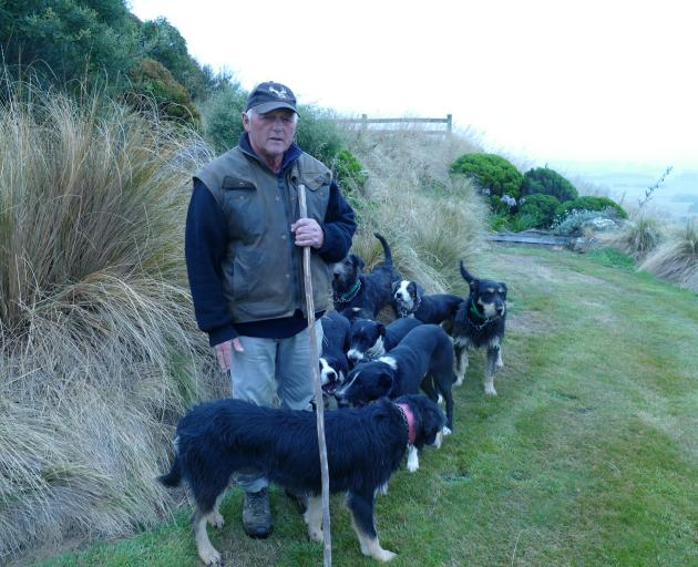 John Chittock with some of his dogs. Photo: Ken Muir