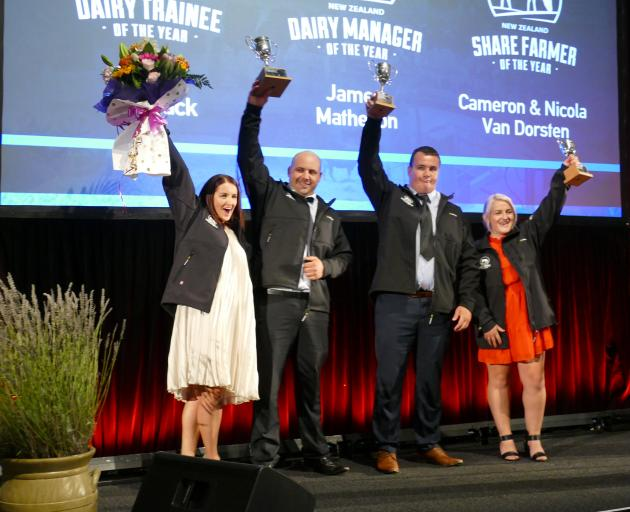 The winners of the Southland-Otago Dairy Industry Awards were named at a dinner held at the Bill...