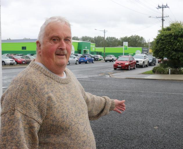 Balclutha resident Michael Brough is determined to get intersection parking rules changed to make them safer. Photo: Jack Conroy