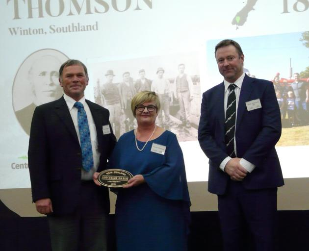 The Thomson family, represented at the Century Farm Awards by fifth-generation descendants Peter...
