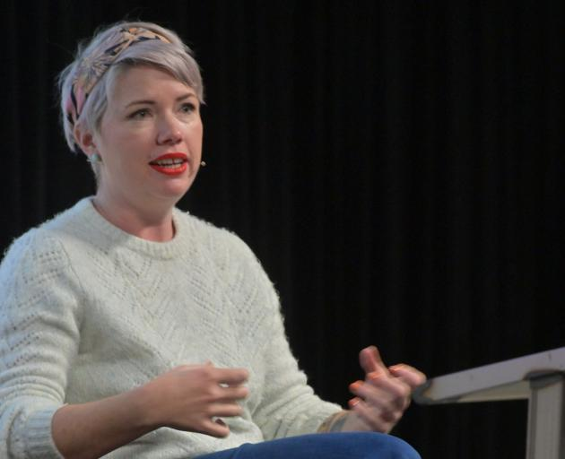 "Australian writer Clementine Ford at ""That F Word"", a Dunedin Writers & Readers Festival event,..."