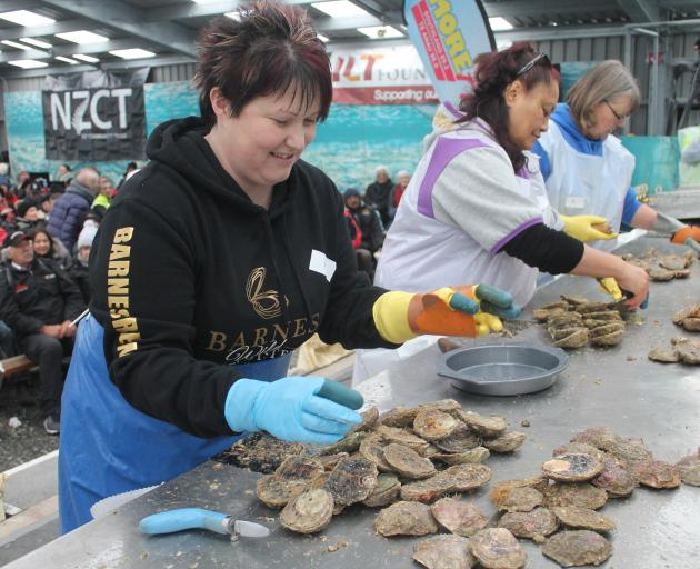 Winner for the eighth time of the Bluff Oyster & Food Festival ladies' oyster opening competition...