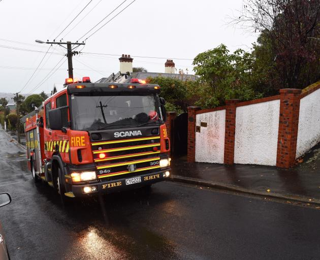 A Fire and Emergency New Zealand spokesman said the fire was out on arrival. Photo: Gregor Richardson