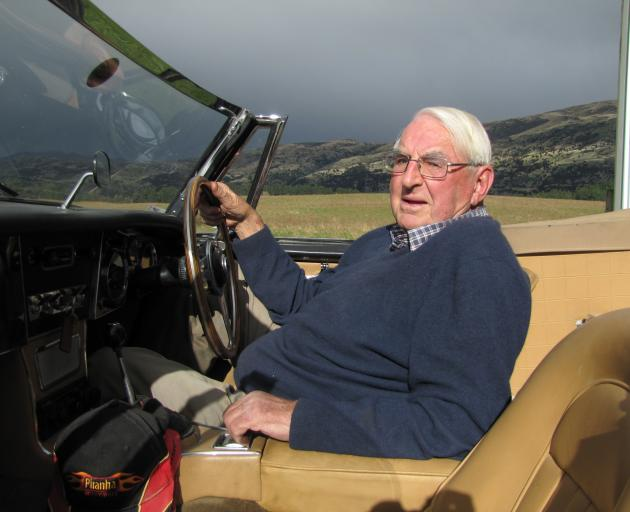 George Wallis, of Mt Barker, with his Austin Healey convertible. PHOTOS: MARK PRICE