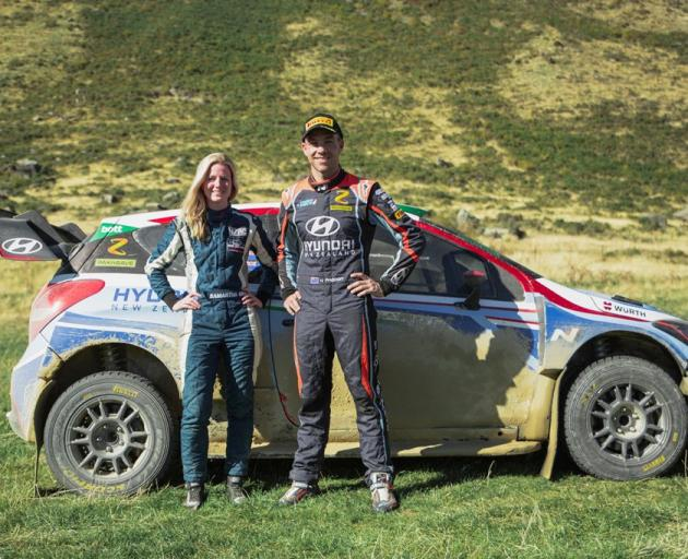 Timaru's Samantha Gray and Hayden Paddon are teaming up for this week's Whangarei rally. Photo: Jack Smith