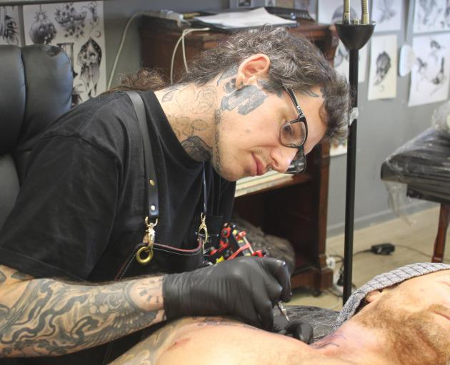 Tattoo artist Heath Sellars believes Invercargill's health and hygiene bylaw for tattoo, body piercing and beauty therapy businesses is flawed. Photo: Luisa Girao