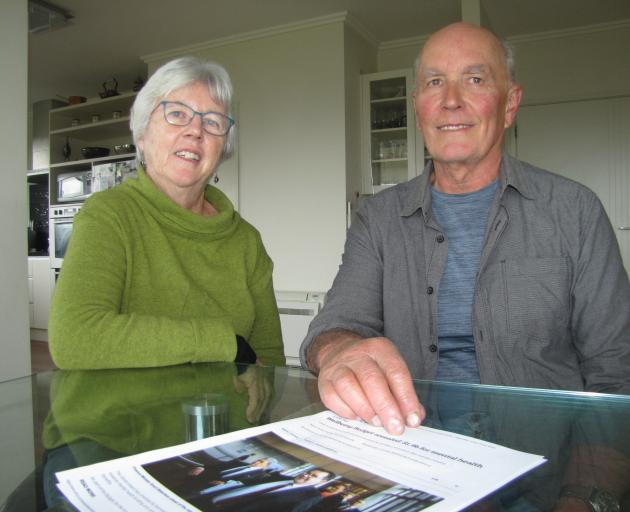 Yvonne and Graeme Perkins say spending is in the right areas. PHOTO: MARK PRICE