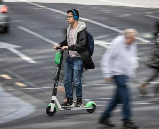Lime e-scooters have been available in Auckland and Christchurch for the past month and are set to launch in Dunedin by the end of the year. Photo: NZ Herald