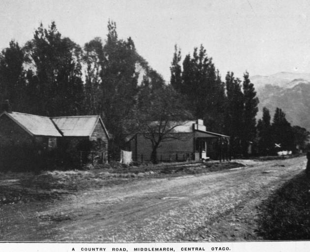 A country road — Middlemarch, Strath Taieri. — Otago Witness, 14.5.1919....