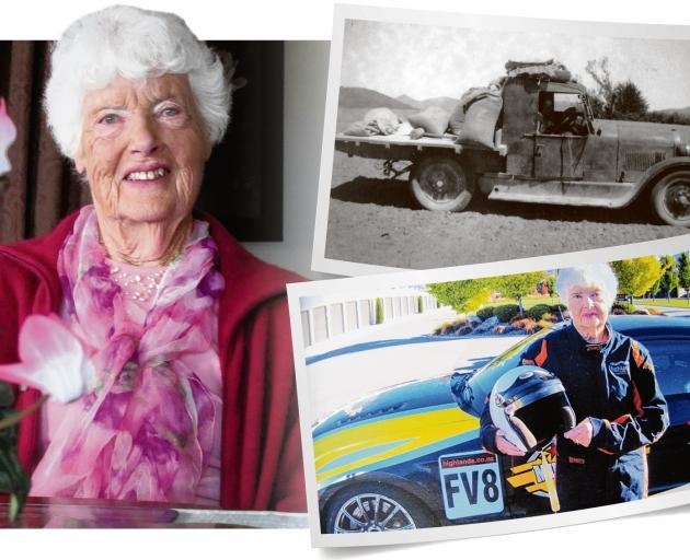 Avis Munro, of Wanaka, recalls her motoring exploits.PHOTOS: MARK PRICE