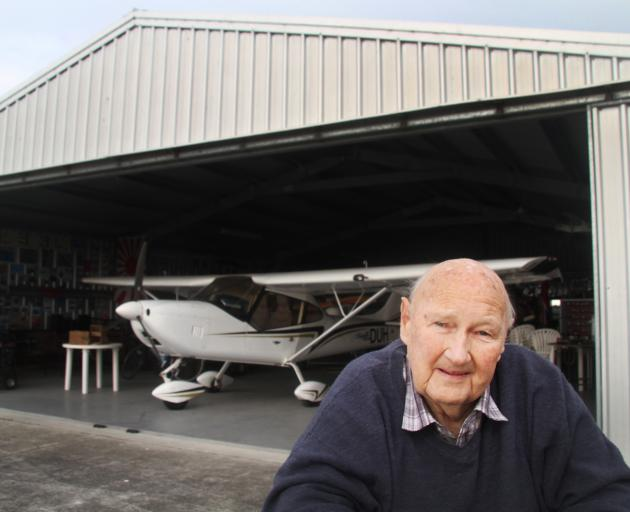 The future of the Rev Colin Hay's hangar at Oamaru Airport is uncertain after the ground rate he...