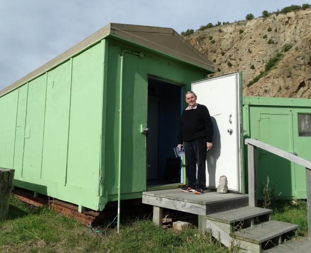 Oamaru Antarctic historian Dr David Harrowfield, pictured in 2017 outside one of the huts from...