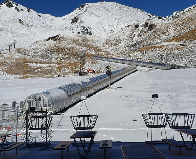 The new learners' conveyor at The Remarkables skifield. PHOTO: THE REMARKABLES