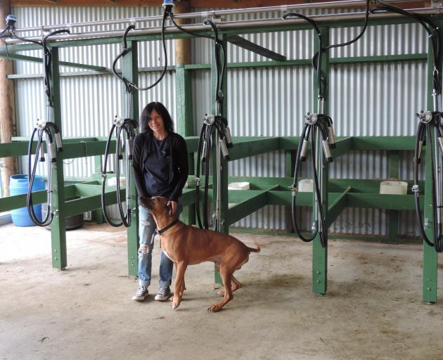 Bethan Moore, with Brutus the Rhodesian ridgeback, is excited about the boutique dairy farm she...