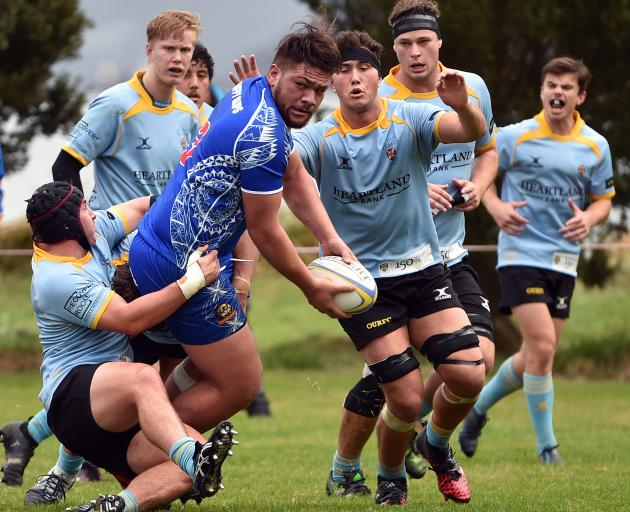 The Premier Club Rugby match between University A and Harbour at Watson Park on Saturday.PHOTO...