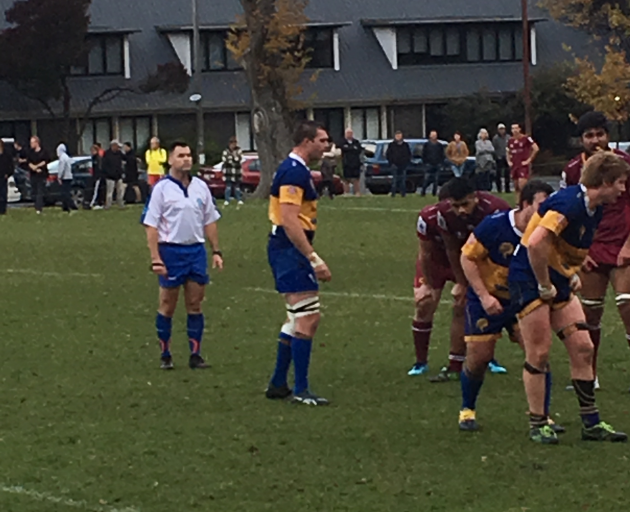 Liam Squire got a rare run out today for Taieri as he continues his recovery from injury. Photo:...