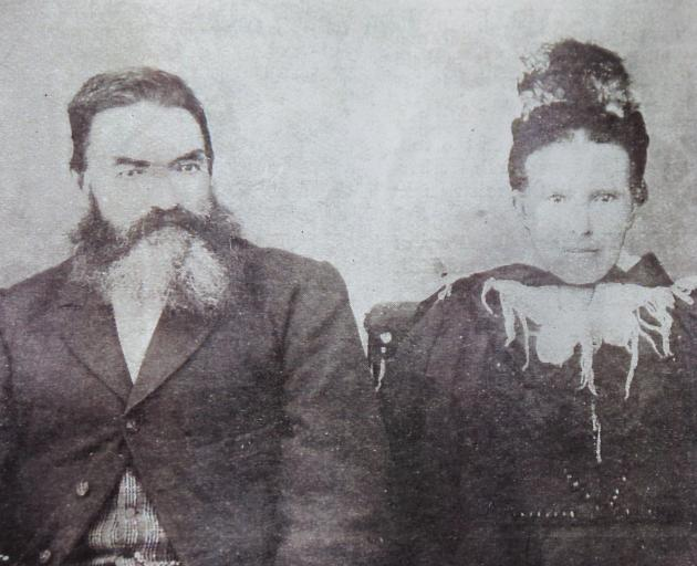 William and Ellen Leask were originally from the Orkney Islands and emigrated to New Zealand to Omakau (he arrived in 1861 and she in 1867). Their descendants still farm near Omakau. Photo: Leask family