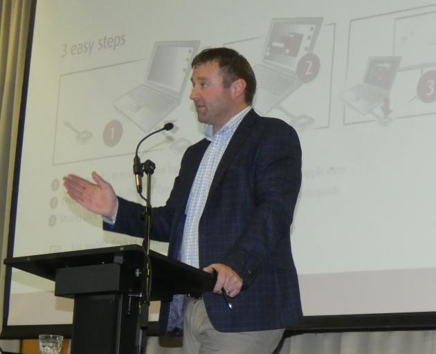NZ First MP Mark Patterson, of Lawrence, spoke on behalf of Minister of Education Chris Hipkins at the Southland Federated Farmers annual meeting in Invercargill last week. Photo: Abbey Palmer