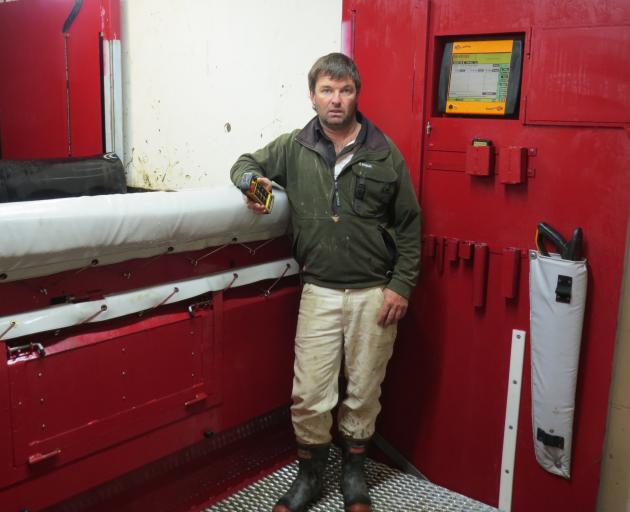 John Falconer, of Clachanburn Station, spent about a year developing a hydraulic, remote...
