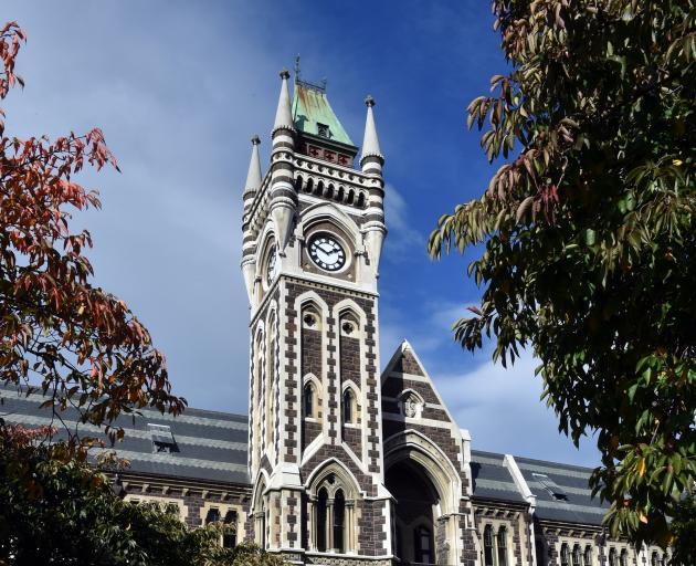 University of Otago's clocktower. Photo: Gregor Richardson.