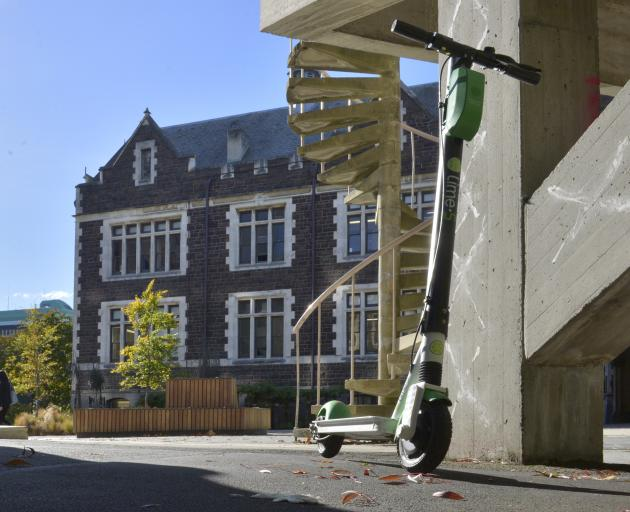 The University of Otago has recorded a handful of Lime scooter incidents since the start of the year. Photo: Gerard O'Brien