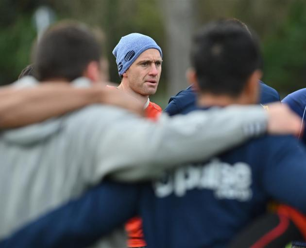 Highlanders captain Ben Smith at training at Logan Park yesterday. Photo: Gerard O'Brien