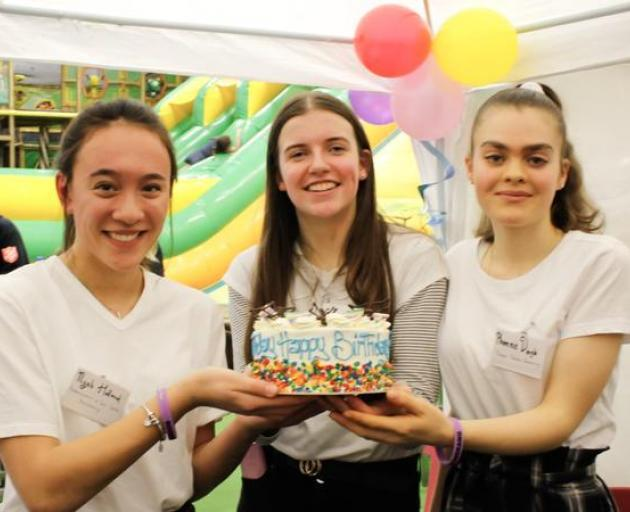 From left Nyah Holland, Grace Nickel and Phoenix Dingle at the official launch of Boomerang. Photo: Supplied via RNZ