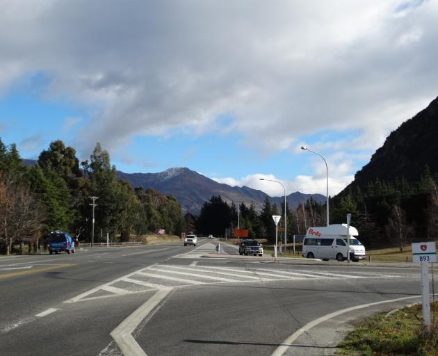 NZ Transport Agency funding for a roundabout at the entrance to Wanaka is uncertain. PHOTO: MARK...
