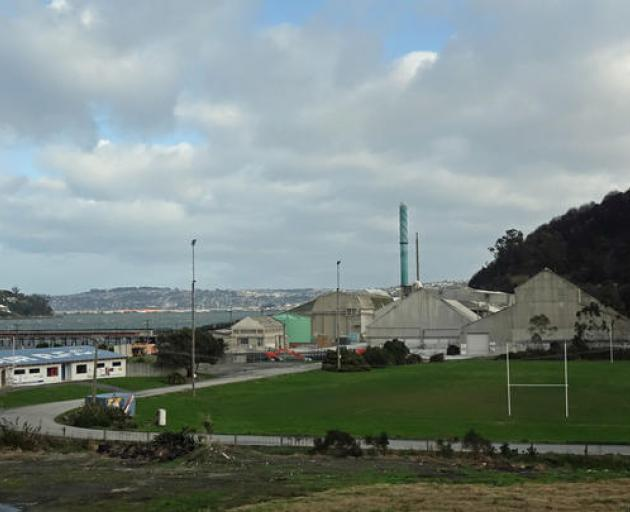 Moller Park, with Ravensdown's sheds in the background. Photo: RNZ