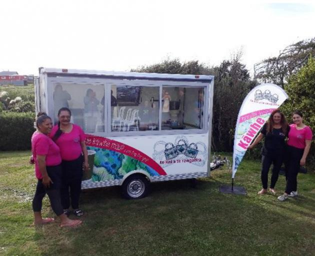 Pip Hakopa, owner-operator of te kai a te rangatira will be parked outside Te Hikoi museum in Riverton on June 23 offering coffee, kai and to korero with customers. Photo: Supplied